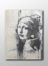 ACEO Banksy Girl With Pierced Eardrum Graffiti Street Art Canvas Giclee Print