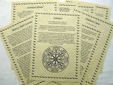 Set of 8 HALLOWEEN SAMHAIN BOS Pages for Book of Shadows wicca pagan grimoire