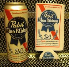 PBR PABST BLUE RIBBON Beer ~ NEW ~ 24oz TALL BOY KOOZIE Can Cooler +FREE STICKER