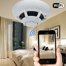 HD SPY Hidden Camera UFO WiFi Smoke Detector Video Recorder For iPhone & Samsung