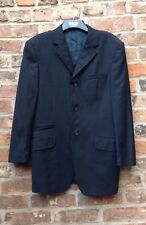 Mens Jacket.Blazer.90% Wool. VERSACE. Size Approx UK38-40, Black With Red