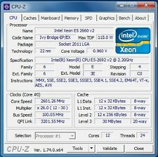 Intel Xeon E5-2692 v2 OEM LGA2011 12C 2.2GHz Compatible with X79 i7 3960X 4960X