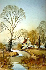 Superb Original Watercolour Painting Country Scene Artist Signed Andrew Findlay