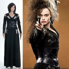 Harry Potter Bellatrix LeStrange Black Dress Costume *Custom Made*