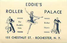 Eddie's Roller Palace ~ROCHESTER / NEW YORK~ Roller Skating / Luggage Label