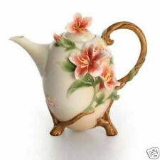 NIB Franz Azalea Teapot, Sugar & Creamer