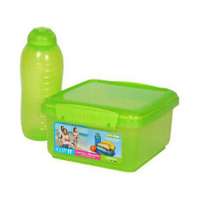Sistema Lunch Plus  Lunch Box & Drink Bottle Lime Green