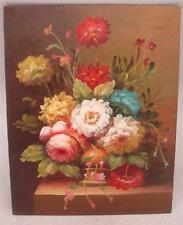 "Hand Painted Oil Painting - 10"" x 8"" - Floral Still Life Scene"