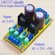 AC-DC LM317 LM337 Adjustable Regulated Power Supply Module Board DIY