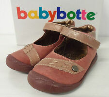 Babybotte Girls Leather Shoes UK Size 5.5 EU 22 Pink New Free Post E1