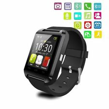 New U80 Smart Wrist Watch Bluetooth Phone Mate For Android Samsung Sony LG Black
