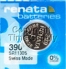 1 pc 390 Renata Watch Batteries SR1130SW FREE SHIP 0% MERCURY