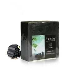 Bamboo Charcoal Cleansing Soap Essential Oil Face Oil-control Natural Handmade D