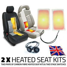 2 x HEATED SEAT KITS & TWO STAGE SWITCHES - CARBON FIBRE ELEMENT PAD