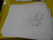 SIMPSONS ORIGINAL PRODUCTION DRAWING USED IN MAKING OF CARTOON Bart 1