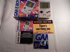 Original Nintendo Game Boy DMG-01 Handheld System (COMPLETE IN BOX, CIB) #S188