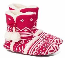 Victorias Secret Slippers Mukluk House Booties Knit Boots Fuzzy 7-8 Medium New