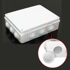 IP65  255x200x80mm Plastic Waterproof Electrical Junction Box + Removable Rubber