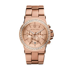 Michael Kors MK5412 Dylan Rose Gold Glitz Chronograph 43MM BRAND NEW AUTHENTIC