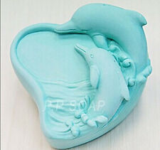 Dolphins S340 Silicone Soap molds Craft Molds DIY Handmade soap mould