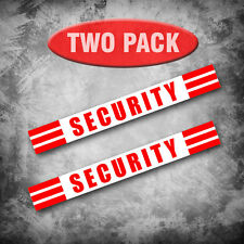 Two (2) SECURITY - Magnetic signs to fit Car, Truck, Van - Choice of colors
