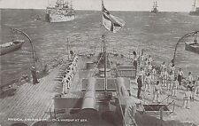 POSTCARD   SHIPS    Physical  and  Rifle  Drill  on a Warship at Sea