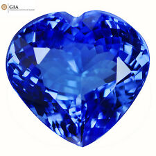 "17.47Ct ""GIA"" Certified IF Heart Cut 16 x 17 mm AAA Natural PurpleBlue Tanzanite"