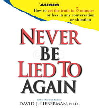 New 2 CD's Never be lied to Again David J. Lieberman (NLP Covert Hypnosis)