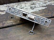 VTG Antque Old Fancy Leaf EASTLAKE Mortise Door Lock with Working Skeleton KEY