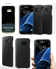 Genuine Samsung Ultra Slim Leather Case Cover For Samsung Galaxy S7 Edge Black