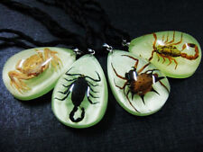 12pcs golden scorpion,black scorpion,carb,spider Mini glow drop magic pendant