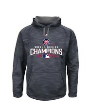 Cubs Majestic World Series Champions Locker Room Fleece Pullover Hoodie Large L
