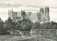 Beverley Minster Yorkshire 1900 Single Sided Antique Print Picture #649
