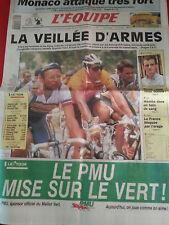 journal  l'équipe 22/07/91 CYCLISME TOUR DE FRANCE 1991 INDURAIN FIGNON FUERTE