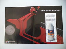advertising Pubblicità 1989 OLIO IP e PIAGGIO VESPA COSA