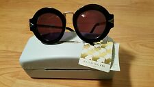 Karen Walker Maze black sunglasses gold frame