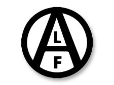 "Pin Button Badge Ø25mm 1"" Logo ALF Animal Liberation Front"