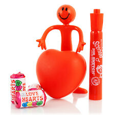 Heart Shaped Stress Ball red Bendy man Mr Sketch pen Love Hearts valentines gift