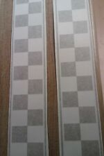 ~ NEW DESIGN ~  Chequered Scooter Stripe Decals / Sticker vespa,retro,ska,bike