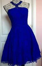 Ladies Beautiful Forever Unique Cobalt Dress Size 8 BNWT
