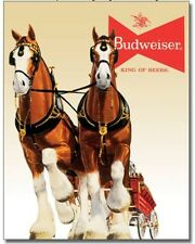 "Budweiser Bud Clydesdale Team - Metal / Tin Sign 12.5"" x 16""  #1631"
