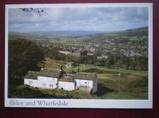 POSTCARD YORKSHIRE ILKLEY & WHARFEDALE FROM WHITE WELLS ILKEY MOOR