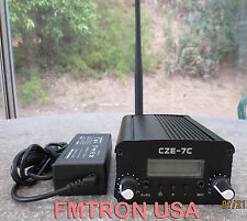 CZE-7C 5w,7w  FM stereo broadcasting transmitter + power adapter + antenna