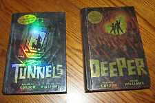 2 Youth Hardcover Scholastic Books Roderick Gordon Brian Williams Tunnels Deeper