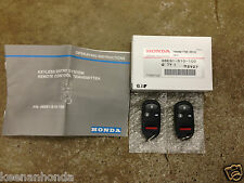 Genuine OEM Honda CR-V Keyless Entry Transmitter Remote Kit - 2 Pieces