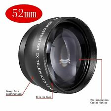 Neewer 52mm 2.0X Magnification Telephoto Lens Tele Converter for Canon Nikon