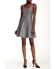 Theory Grey Trekana Circuit Knit Dress Stretch Jacquard sz.0  $345 NWT F0824627