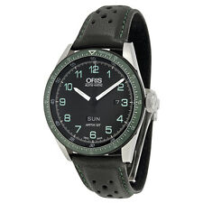 Oris Calobra GT Limited Edition Automatic Black Dial Black Leather Mens Watch