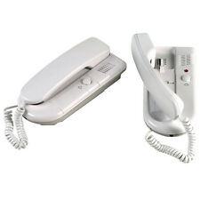 Mercury 2 Way Station Telephone Style Intercom Battery Powered or AC/DC Adaptor