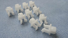 MG WHITE HOOD RETAINER BONNET ROD STAY GRIPPER HOOK ARM CLIPS 10PCS